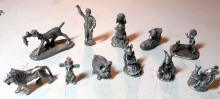Lot 3: BIG LOT 60+ PEWTER FIGURINES TRAIN SETS DISNEY SPOONTIQUES MICE ANIMALS WESTERN DINOSAURS MORE