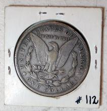 Lot 49: 1890 CC MORGAN SILVER DOLLAR CARSON CITY