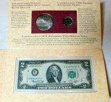 Lot 48: COLLECTOR COIN LOT JEFFERSON COINAGE CURRENCY SET DESERT STORM SILVER ROUND WASHINGTON HALF