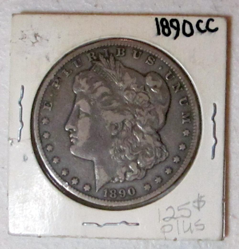 1890 CC MORGAN SILVER DOLLAR CARSON CITY