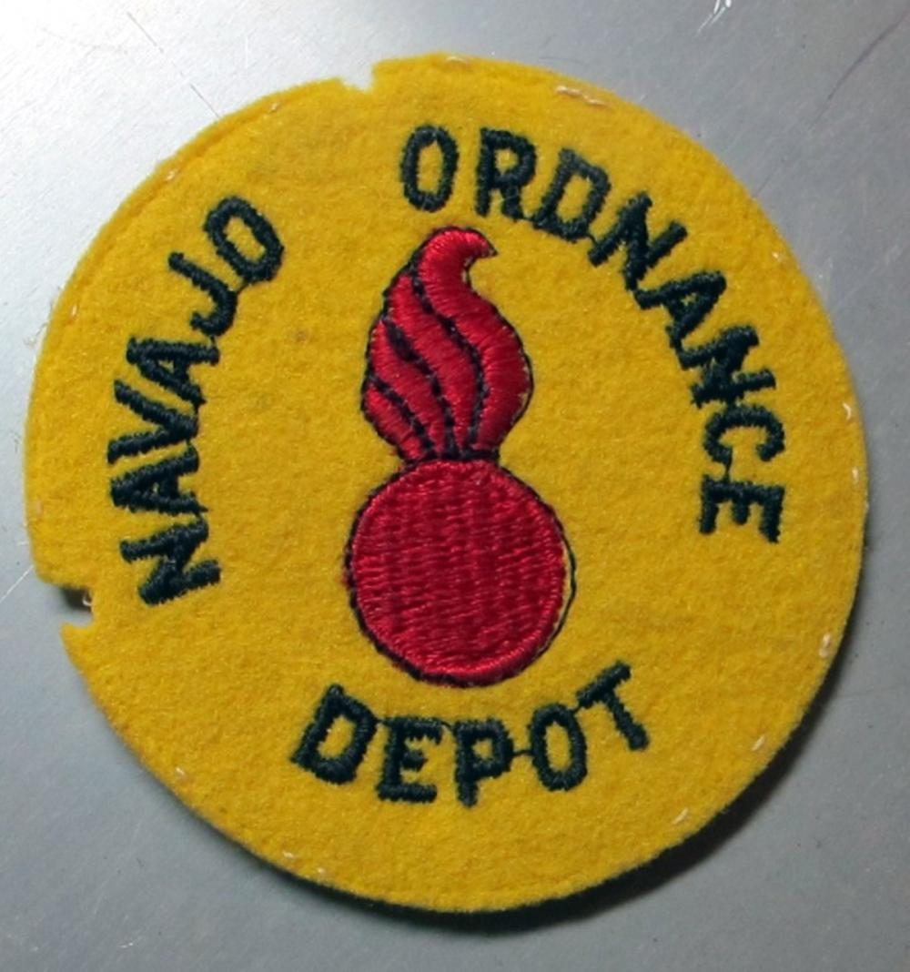 RARE ORIGINAL WWII NAVAJO ORDNANCE DEPOT PATCH NO GLOW BELLEMONT ARIZONA