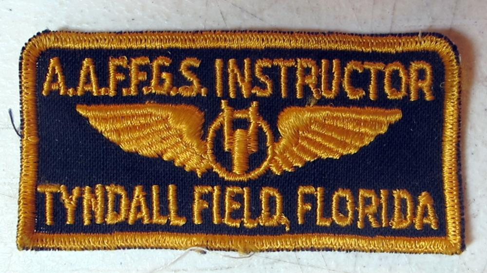 WWII AAF FGS INSTRUCTOR UNIFORM PATCH TYNDALL FIELD FLORIDA FLEXIBLE GUNNERY SCHOOL