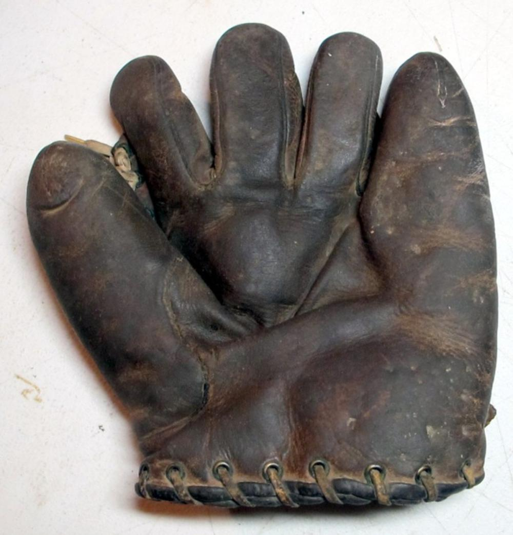 1920'S WRIGHT & DITSON SPLIT FINGER FIELDERS BASEBALL GLOVE RHT