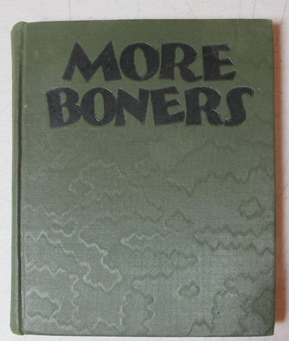 MORE BONERS 1931 ALEXANDER ABINGDON HB BOOK ILLUSTRATED BY DR SEUSS