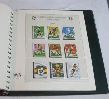 Lot 144: WORLDWIDE STAMP ALBUM 1982 FIFA SPAIN WORLD CUP CHAMPIONSHIP STAMP ALBUM GERMAN