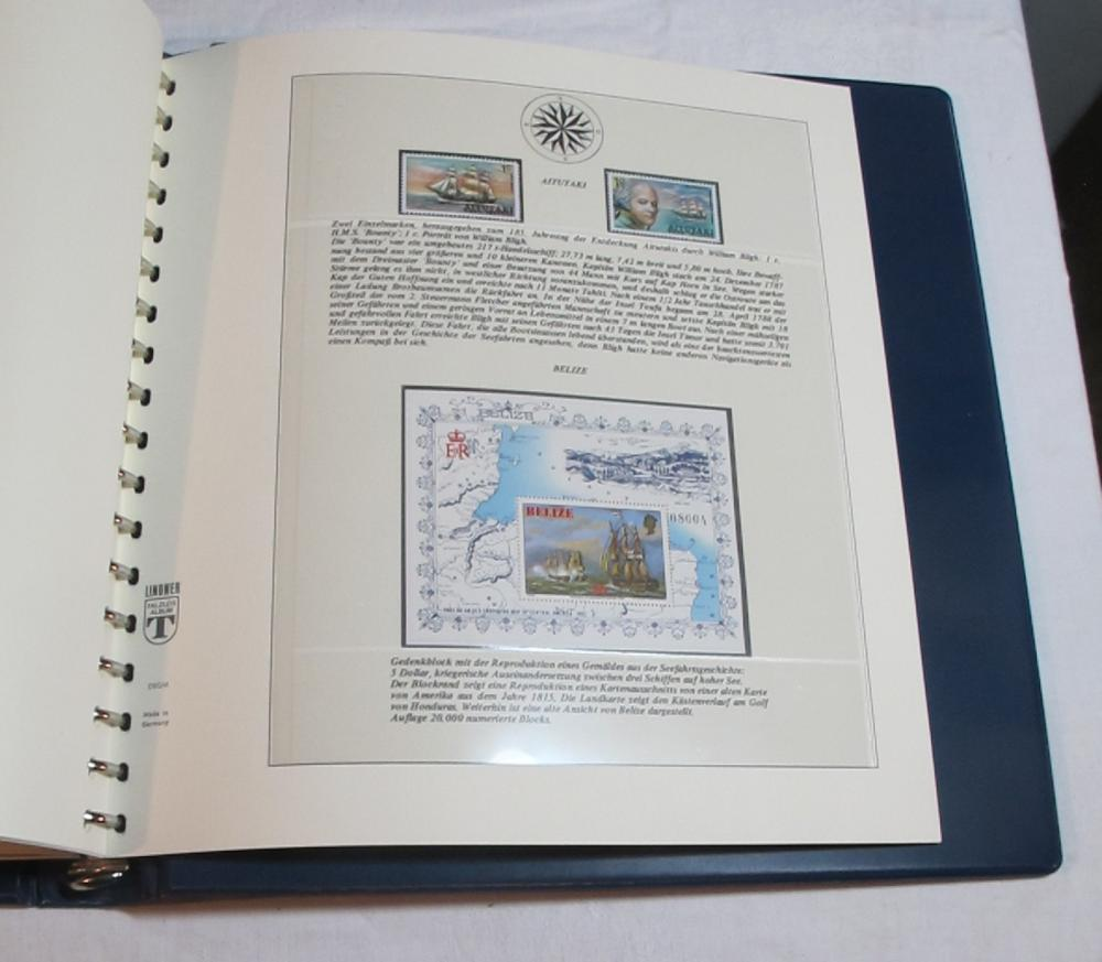 Lot 141: WORLDWIDE STAMP ALBUM SHIPS THROUGH HISTORY SCHIFFE GERMAN W/SLIPCASE