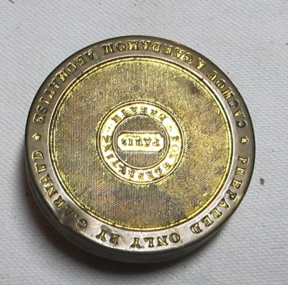 Lot 8: CIRCA 1860 FRENCH G. ARNAUD HRM QUEEN VICTORIA BRASS AROMATISE MEDICINE TIN