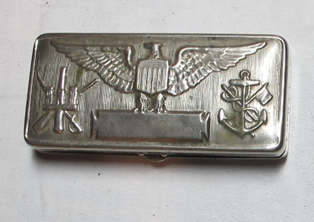 GILLETTE WWI 1917 US SERVICE RAZOR KIT ARMY NAVY EMBOSSED INSIGNIA