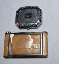 Lot 7: 2 VINTAGE ART DECO MAKEUP COMPACT CASES GIREY COLLEEN MOORE DARNEE