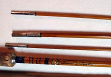 Lot 83: NICE VINTAGE MONTAGUE TONKIN BAMBOO 4 PC 8.5' FLY FISHING ROD