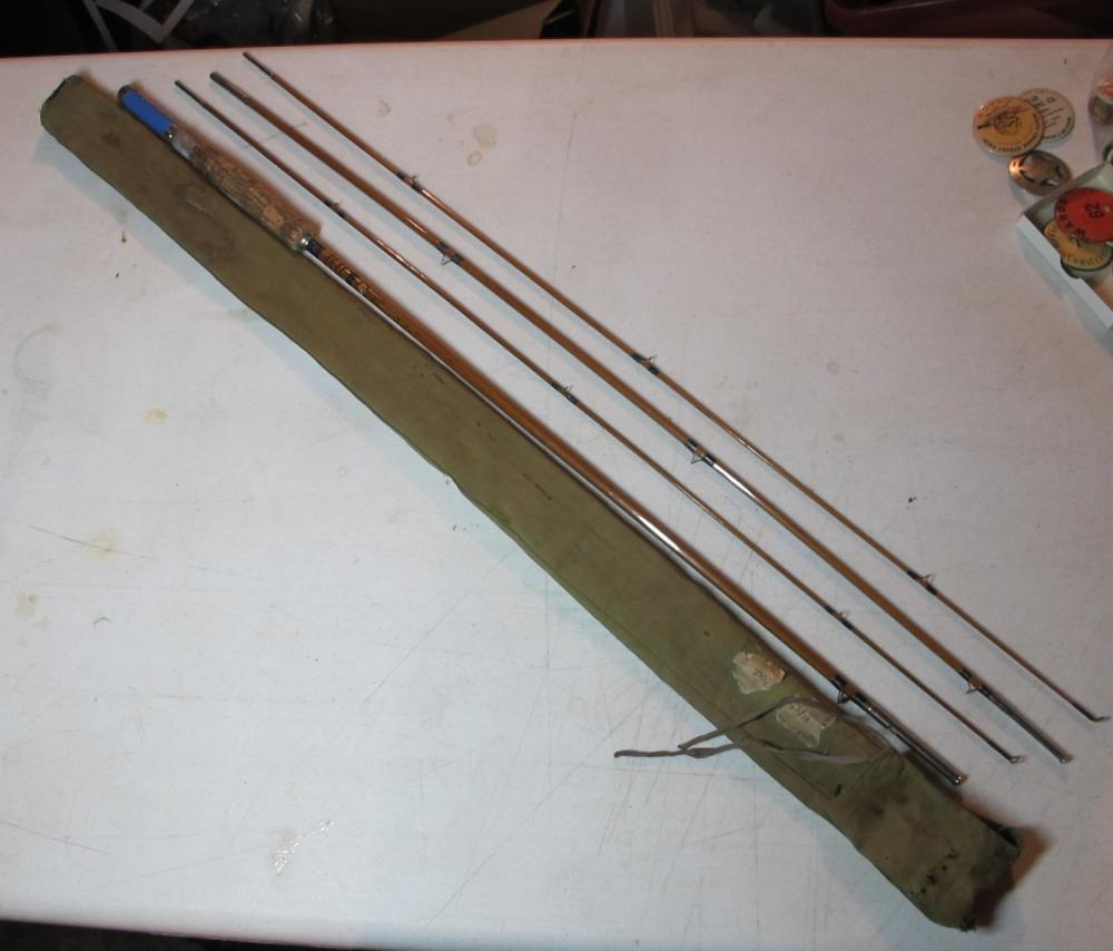 NICE VINTAGE MONTAGUE TONKIN BAMBOO 4 PC 8.5' FLY FISHING ROD