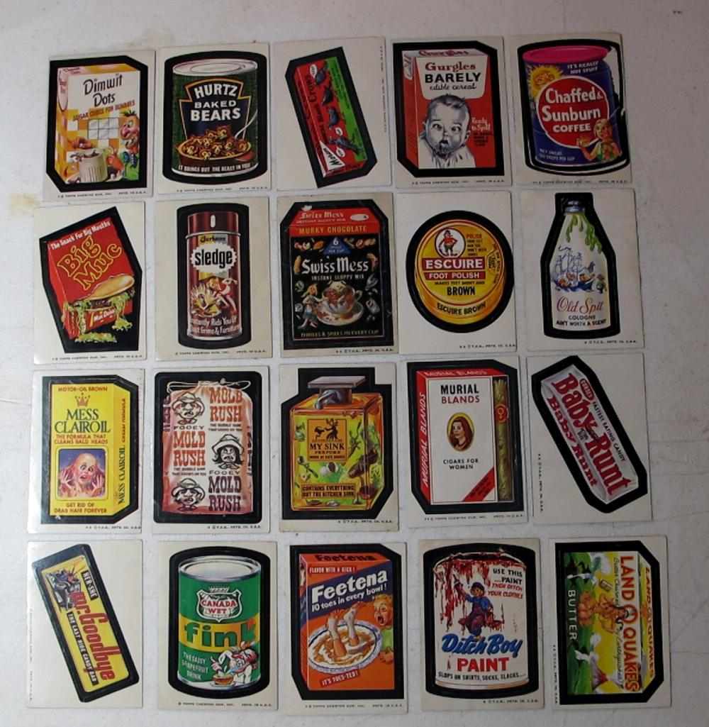 20 DIFF 1970'S TOPPS WACKY PACKAGES STICKER CARDS FUNNY SPOOF PRODUCTS