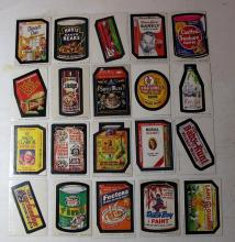 Lot 64: 20 DIFF 1970'S TOPPS WACKY PACKAGES STICKER CARDS FUNNY SPOOF PRODUCTS