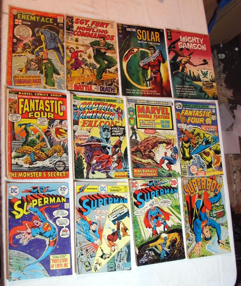 12 SILVER AGE DC MARVEL GOLD KEY COMICS FANTASTIC FOUR SUPERMAN DR SOLAR SAMSON MORE