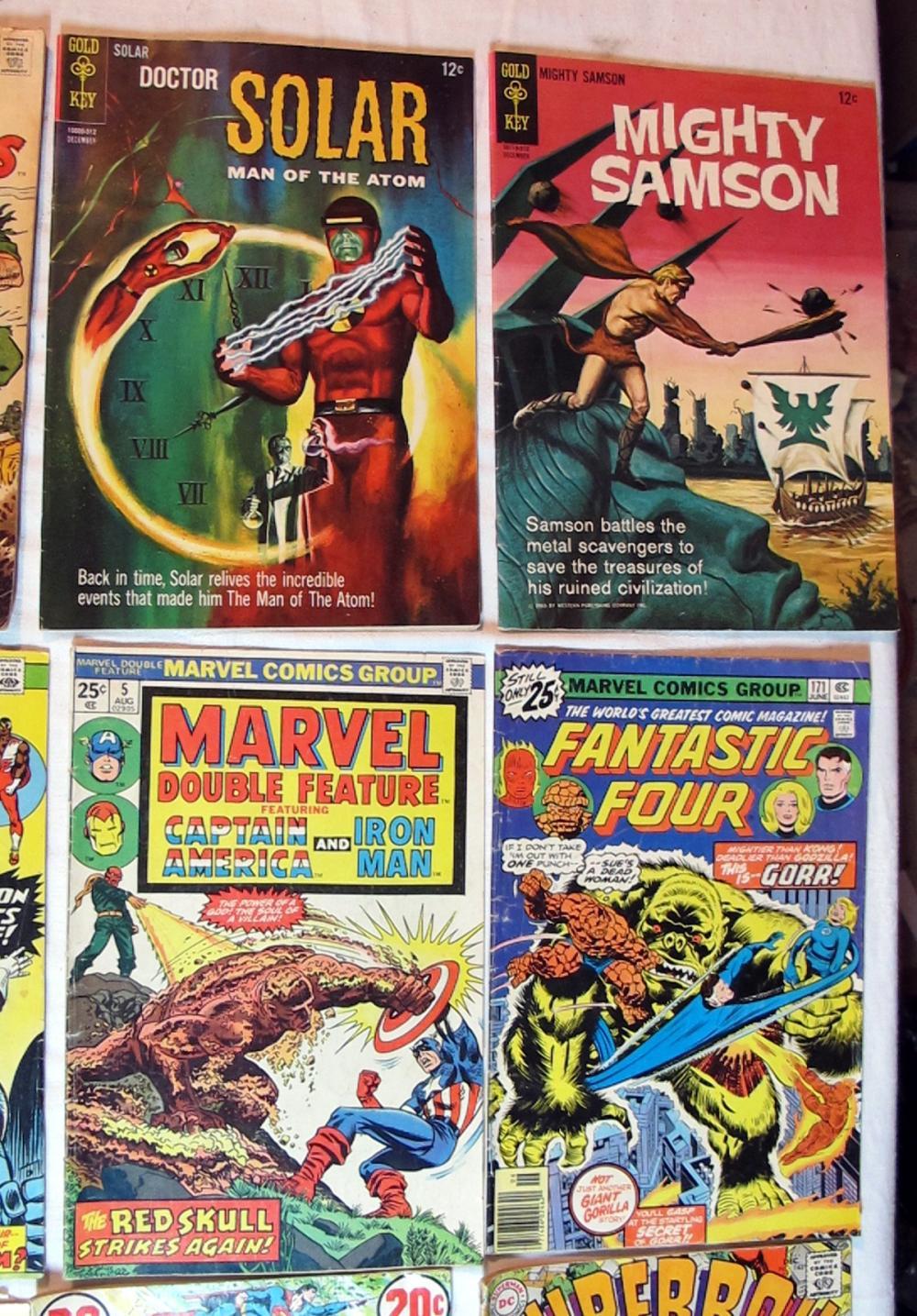Lot 134: 12 SILVER AGE DC MARVEL GOLD KEY COMICS FANTASTIC FOUR SUPERMAN DR SOLAR SAMSON MORE