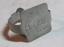 Lot 40: PRE WWII SPOKANE WA BICYCLE LICENSE BADGE ALUMINUM H788