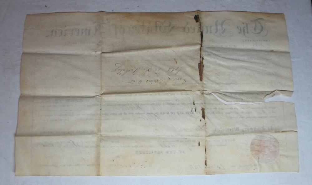 Lot 137: 1848 POLK COUNTY MISSOURI LAND DEED DOCUMENT SIGNED PRESIDENT JAMES K POLK