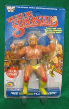 1985 WWF WRESTLING SUPERSTARS HULK HOGAN ACTION FIGURE ON CARD 8 BACK