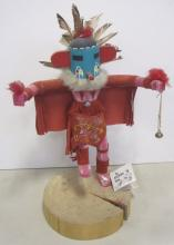 VINTAGE NAVAJO INDIAN MADE KACHINA DOLL W. YAZZIE SIGNED WITH TAG RED