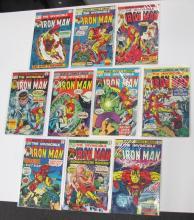 10 MARVEL INVINCIBLE IRON MAN COMICS COMPLETE RUN 71-80 NICE BRONZE AGE