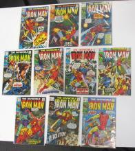 10 MARVEL INVINCIBLE IRON MAN COMICS COMPLETE RUN 21-30 NICE SILVER AGE SOME UK