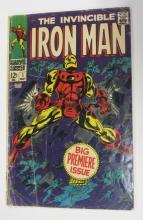 MARVEL THE INVINCIBLE IRON MAN COMIC BOOK #1 BIG PREMIERE ISSUE