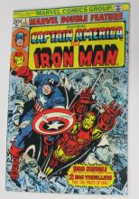 MARVEL DOUBLE FEATURE CAPTAIN AMERICA + IRON MAN COMIC BOOK FIRST ISSUE #1