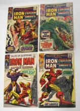 4 MARVEL TALES OF SUSPENSE IRON MAN AND CAPTAIN AMERICA COMIC BOOKS 91 93 95 97