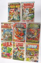 8 MARVEL SILVER BRONZE AGE COMIC BOOKS COMICS HULK ECHH SPOOF WAR CREATURES ON LOOSE