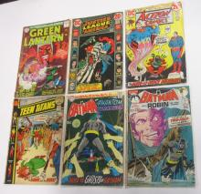 6 DC COMICS BOOKS SILVER BRONZE AGE SUPERHERO BATMAN SUPERMAN TEEN TITANS GREEN LANTERN