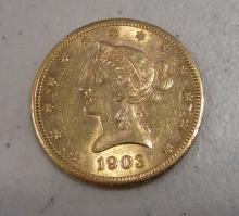 1903-S $10 US LIBERTY HEAD GOLD EAGLE COIN