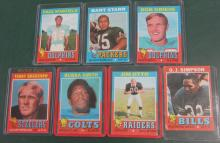 SEVEN 1971 TOPPS FOOTBALL HOFER CARDS BRADSHAW RC STARR GRIESE MORE