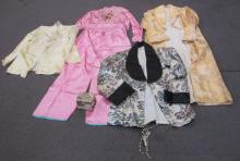 VINTAGE KOREAN CLOTHING LOT SILK ROBES PANTS PURSE EMBROIDERED