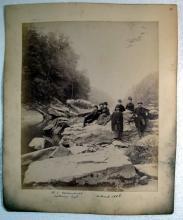 1880'S SEWICKLEY PENNSYLVANIA AREA PHOTO ALBUM WRENSHALL COWAN FAMILY BRIDGES RIVER HOMES ETC
