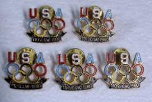 5 1980 USA SUMMER OLYMPIC TEAM MOSCOW OLYMPICS PINS BOYCOTT NEVER ISSUED