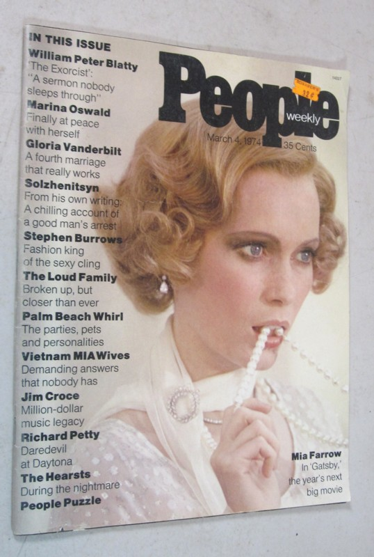 FIRST ISSUE PEOPLE MAGAZINE MARCH 4 1974 MIA FARROW GATSBY COVER