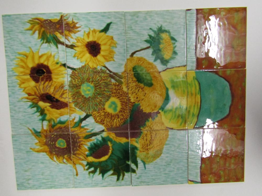 Hand Painted Ceramic Tile Art