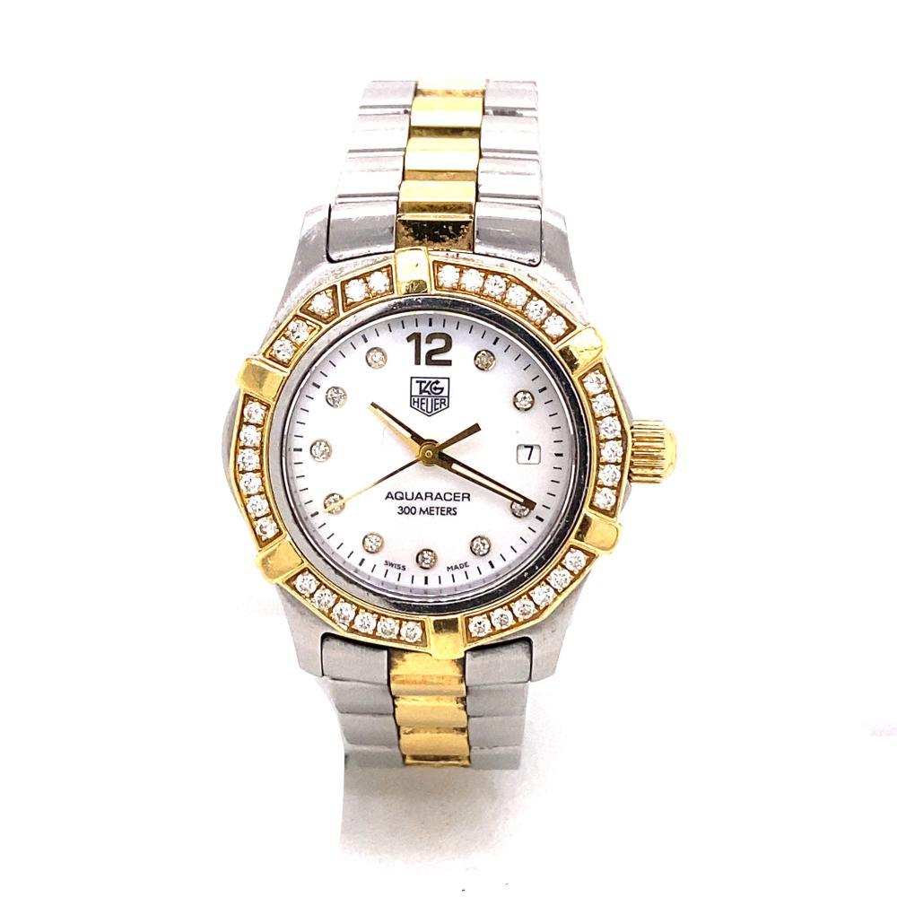 Ladies TAG HEUER Aqua Racer Diamond Watch