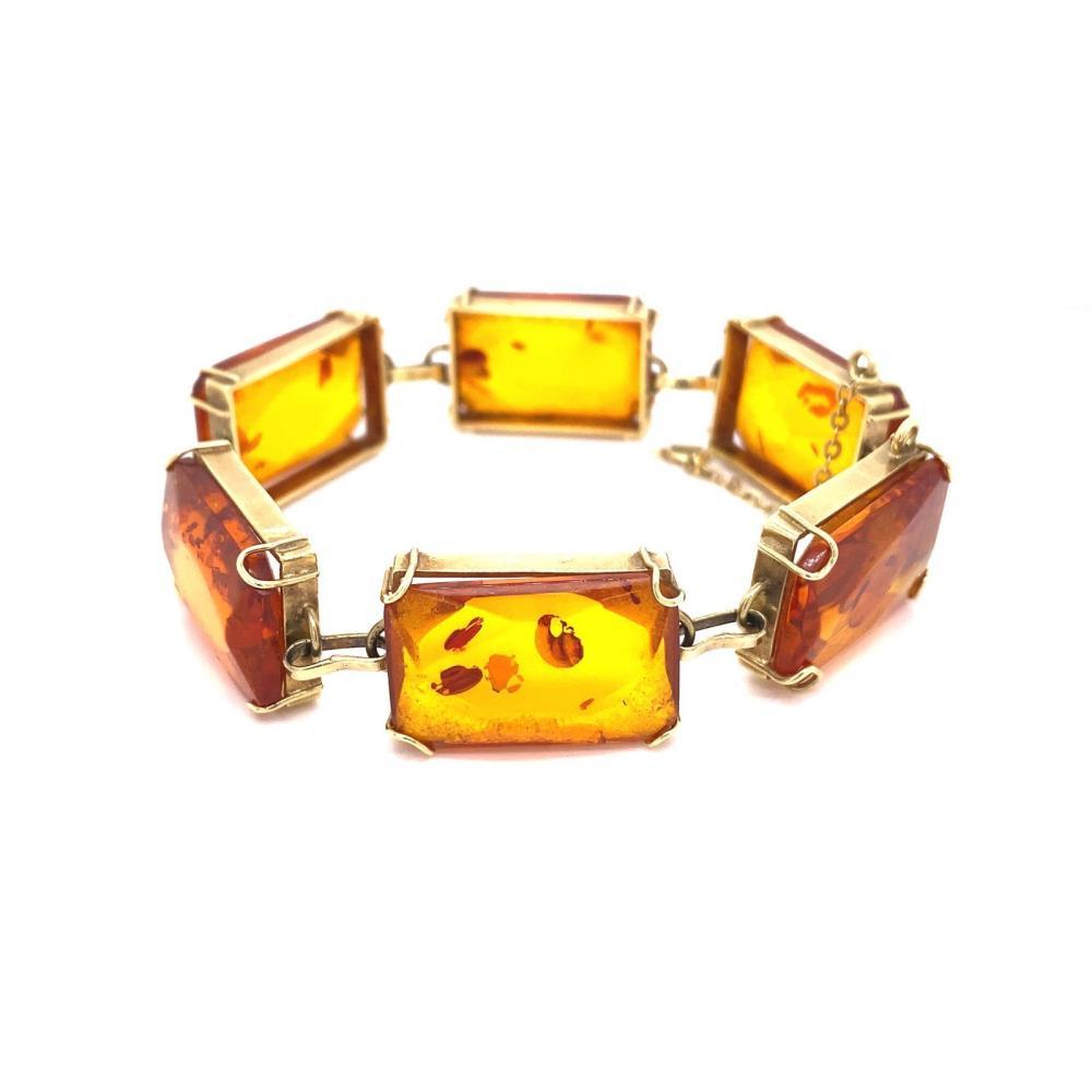 14K Amber Bracelet
