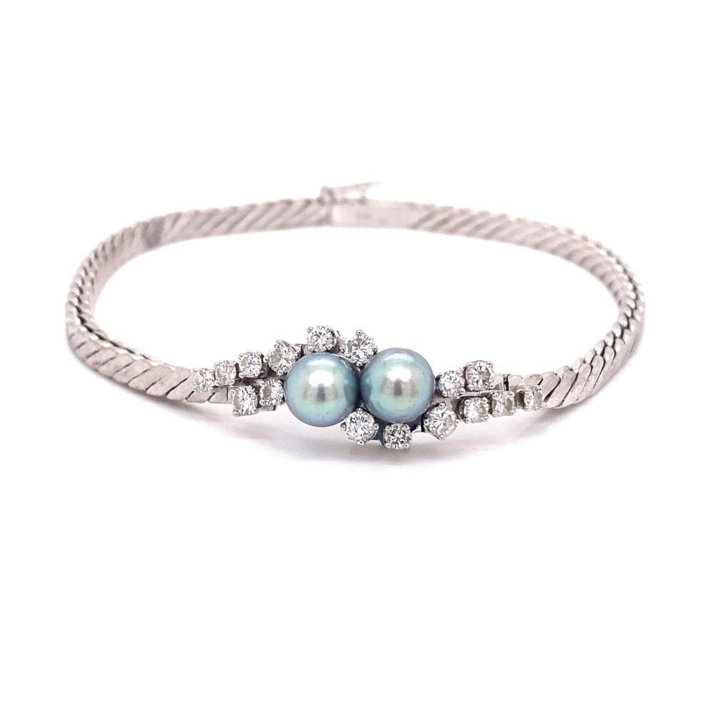 18k Diamond Pearl Bracelet