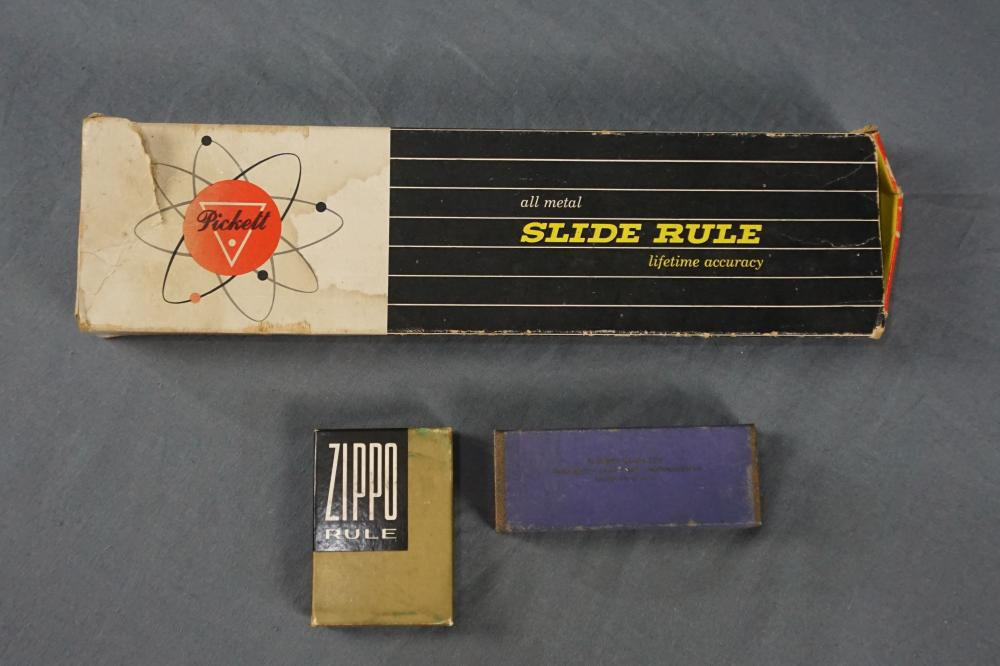Zippo Tape Measure, Slide Rule and More
