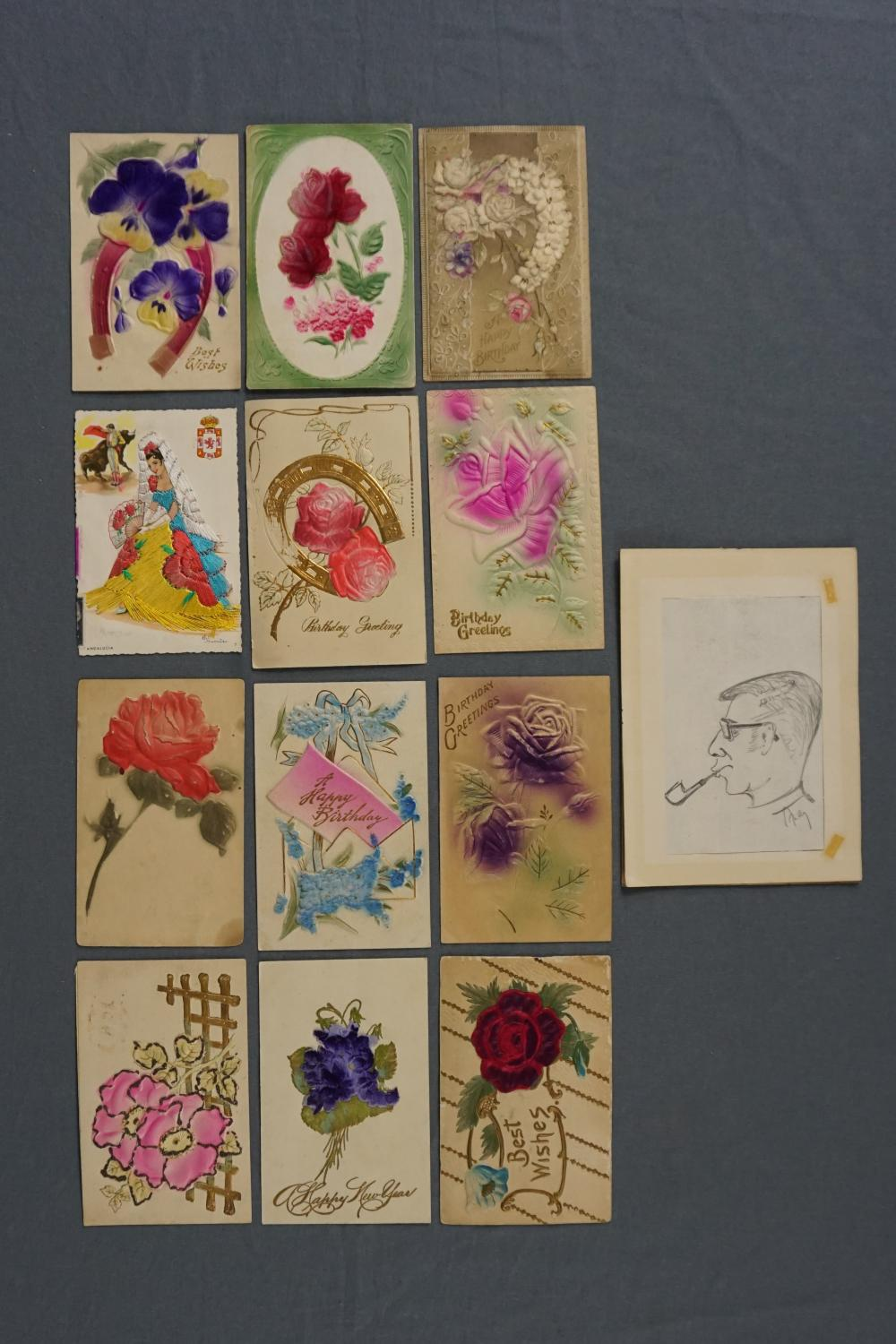 12 Antique Greeting Cards