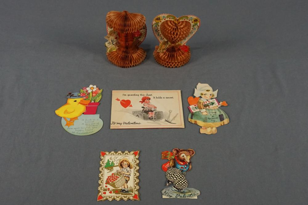 Antique Valentine's Day Card Lot