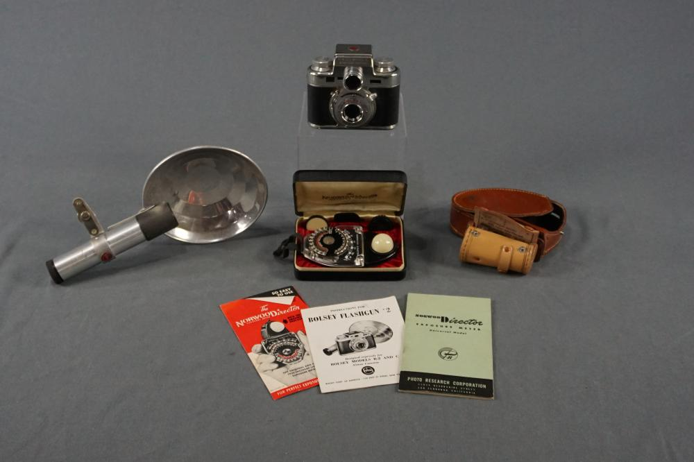 Vintage Bolsey Camera and Accessories