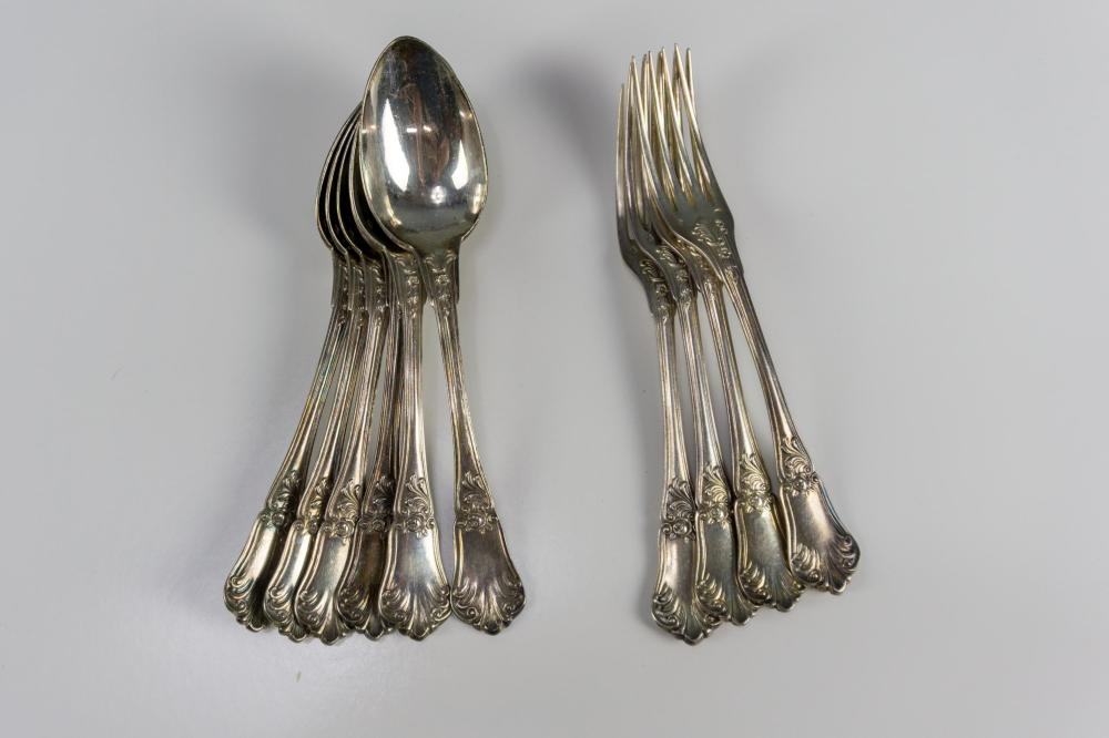 French Silver Flatware Lot