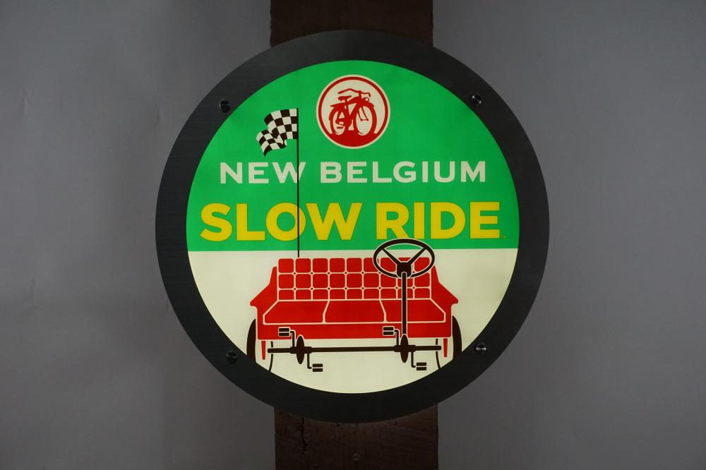 "New Belgium ""Slow Ride"" Lighted Bar Sign"
