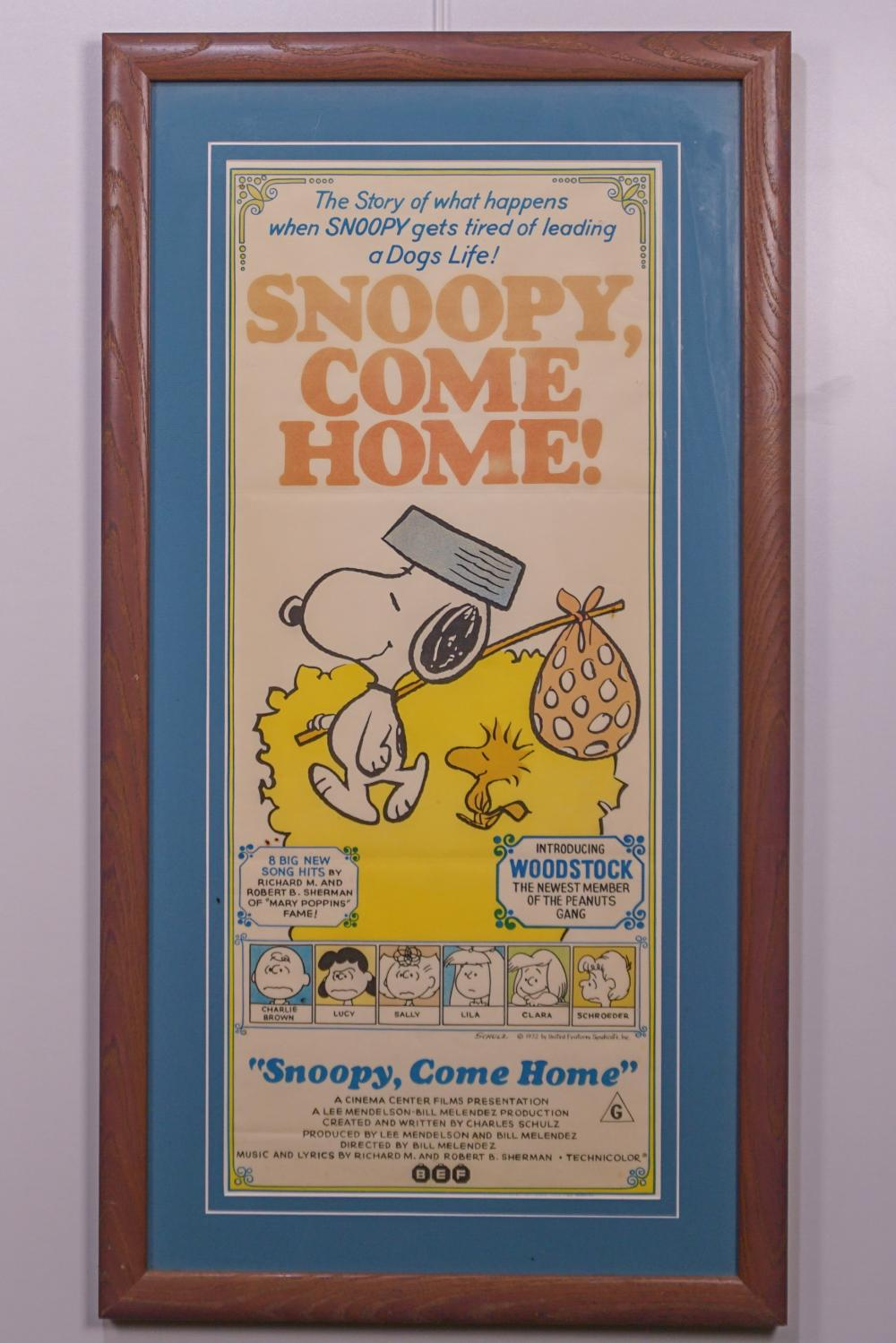 """Snoopy Come Home"" Original Theater Poster"