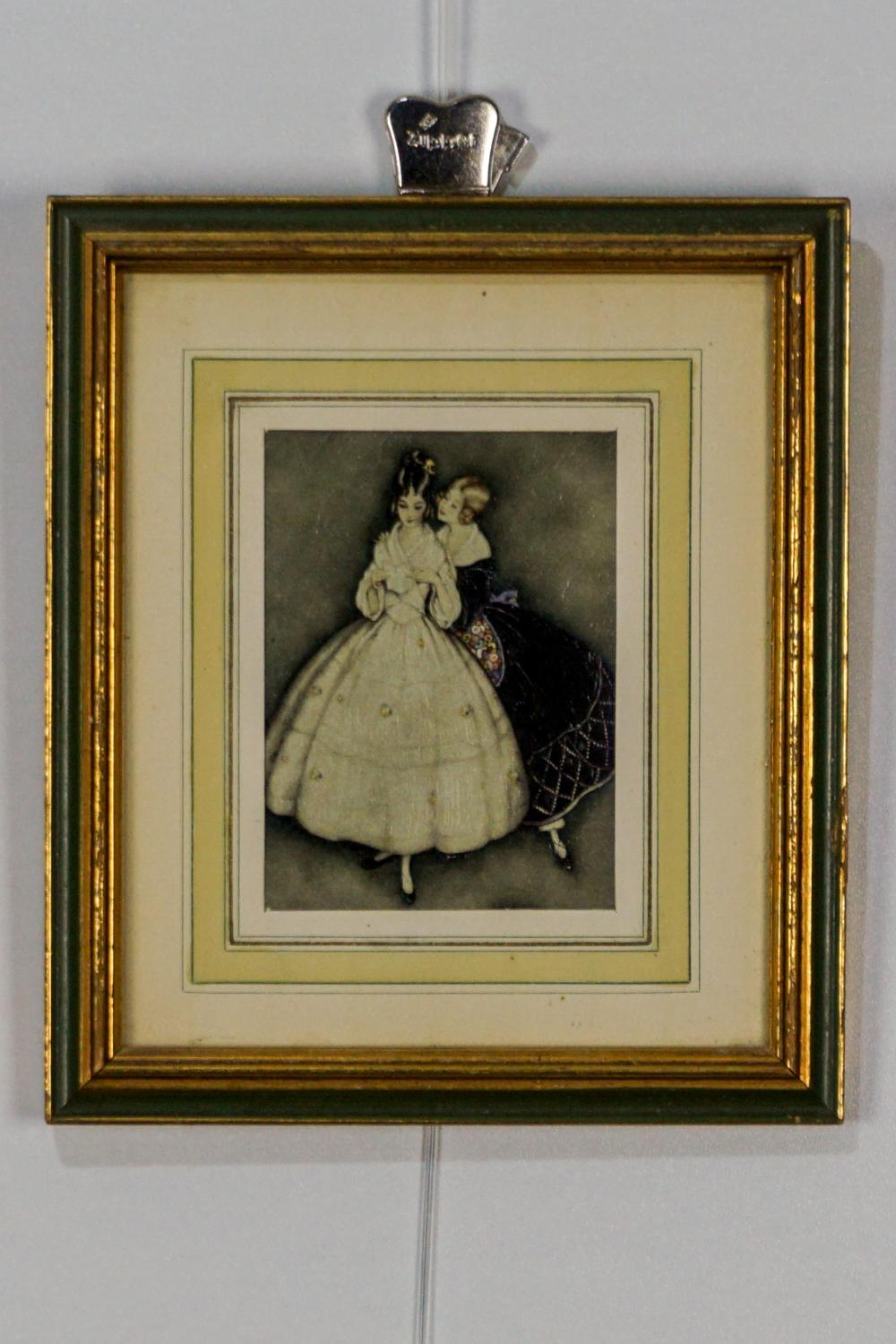 Two Framed Textured Prints of Women