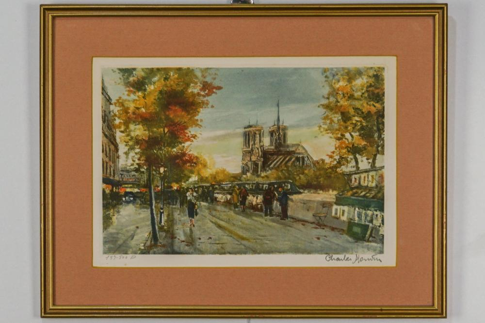 Framed Colored Print of Paris