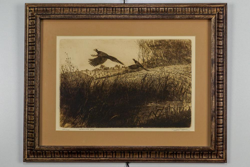 "Brett James Smith, ""Opening Day"" Etching"